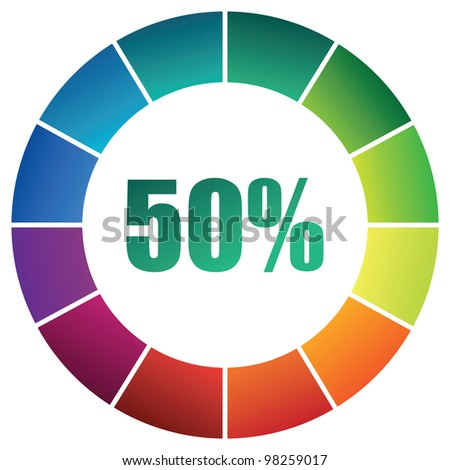 abstract coloured ring - stock vector