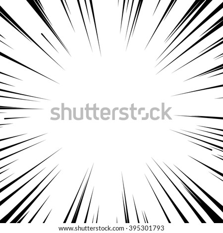 Abstract comic book flash explosion radial lines background. Vector illustration for superhero design. Bright black white light strip burst. Flash ray blast glow. Manga cartoon hero fight print stamp - stock vector