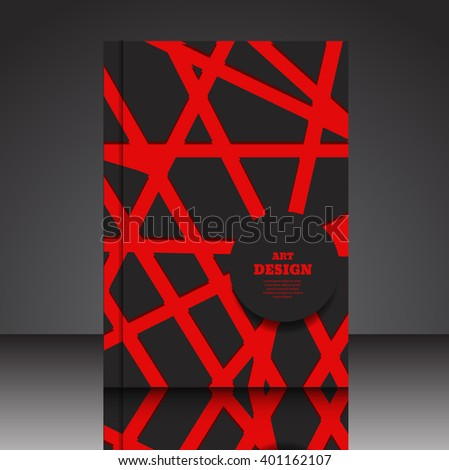 Abstract composition A4 brochure background eps10 vector illustration 13 - stock vector