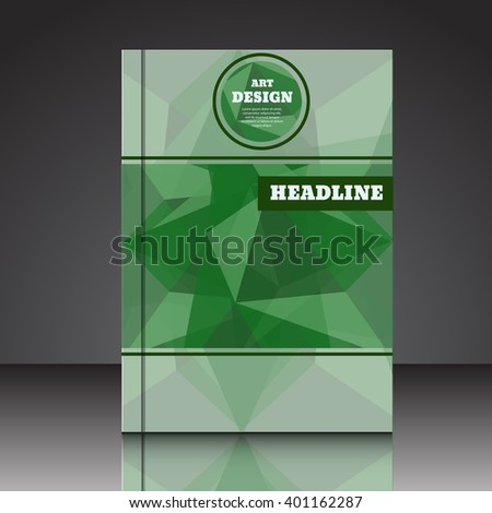 Abstract composition A4 brochure background eps10 vector illustration 6 - stock vector