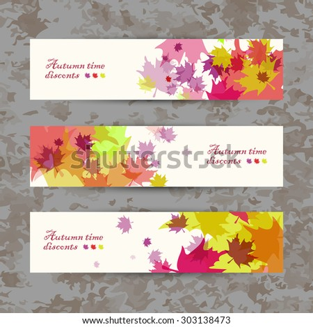 Abstract composition, autumn sale leaflet, maple leaf, background pattern, EPS 10 vector illustration - stock vector