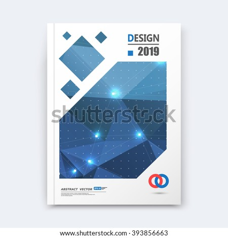 Abstract composition, blue font texture, shiny perforated dots construction, white light points, a4 brochure title sheet, creative figure icon, commercial logo surface, firm banner form, flier fiber - stock vector