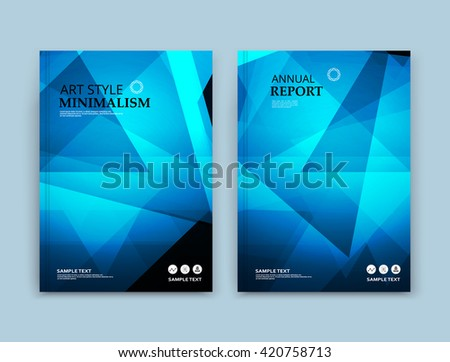 Abstract composition. Blue polygonal texture. Triangle part construction. Brochure title sheet. Creative figure icon. Sapphire diamond facet. Crystal glass surface. Transparent banner form. Flyer font - stock vector