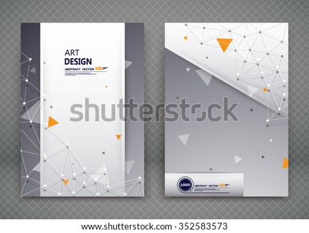 Abstract composition, business card set, molecular atomic collection, a4 brochure title sheet, certificate, diploma, patent, charter, creative text frame surface, polygonal logo icon backdrop, EPS10 - stock vector