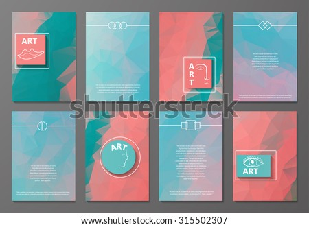 Abstract composition, business card template set, correspondence letters collection, brochure title sheet, diploma, patent, charter, text frames, backdrop, logo background, EPS 10 vector illustration - stock vector
