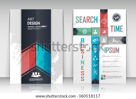 Abstract composition, figure logo business card set, correspondence collection, a4 brochure title sheet, creative text frame surface, time management backdrop, financial icon construction, EPS10 image - stock vector