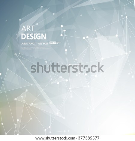 Abstract composition, futuristic technology, silver font texture, white cybernetic dots, creative banner figure, gray wallpaper, outer space flyer fiber, neon star light matrix, EPS10 vector backdrop - stock vector