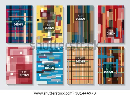 Abstract composition, geometric pattern, line, logo, Brochures, background, EPS 10 vector illustration - stock vector