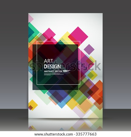 Abstract composition, geometric shapes icon, colored lozenge ornament, a4 brochure title sheet, rhombus firm sign construction backdrop, business card texture surface, fashionable fiber, EPS10 vector  - stock vector
