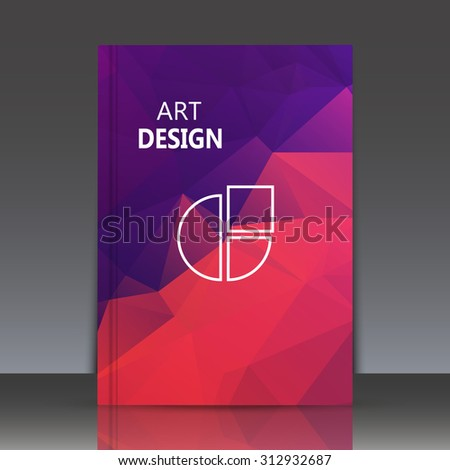 Abstract composition, polygonal background, geometric shapes connecting, brochure title sheet backdrop, logo construction, rainbow color, crystal face shine, EPS 10 vector illustration - stock vector