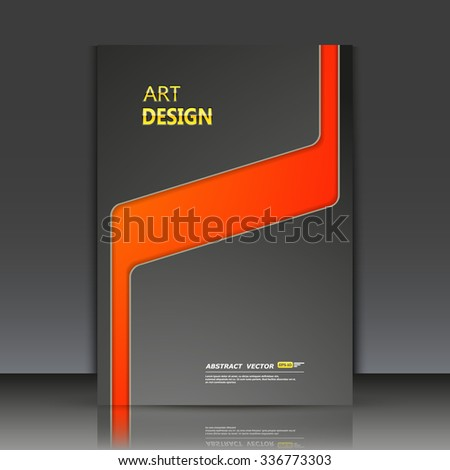 Abstract composition, red circle framework, black a4 brochure title sheet, round logo construction backdrop, business card texture surface, line emphasized firm symbol, fashion binder  - stock vector