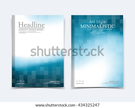 Abstract composition. Text frame surface. Brochure cover. White title sheet. Creative logo figure. Ad banner form texture. Blue, white box block mosaic icon. Flyer fiber backdrop. Vector illustration - stock vector
