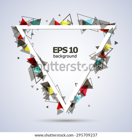 Abstract composition, white triangle, background | EPS10 vector illustration - stock vector