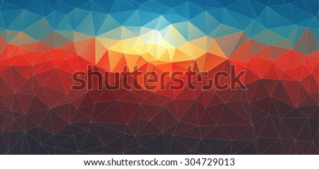 abstract composition with geometric shapes for your web design  - stock vector