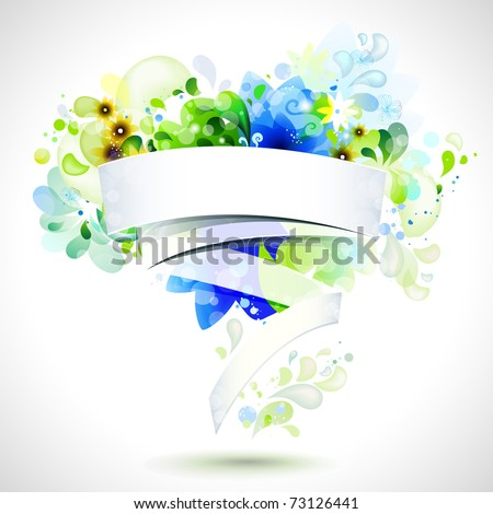 abstract composition with place for text - stock vector