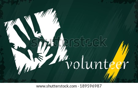 Abstract concept illustration about strategy helping hands - stock vector