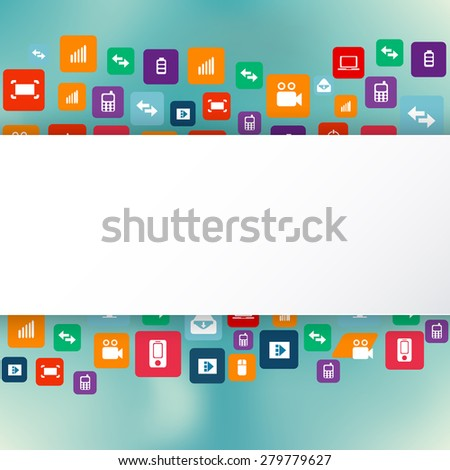 Abstract concept vector empty speech bubble empty area for text. For web and mobile applications isolated on background, illustration template design, presentation, creative business info graphic and social media icon. - stock vector