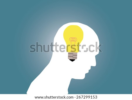 Abstract conceptual image of business human brain and idea with creative template with space as background - stock vector