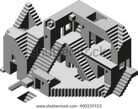 Abstract Confusion Observatory Building Vector - stock vector