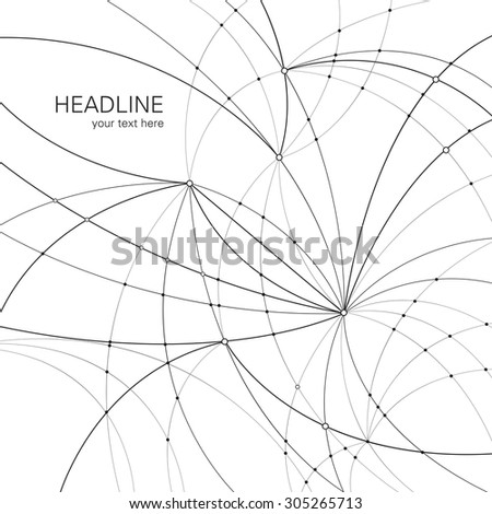 Abstract connection Structure with lines and dots. Digital data visualization. Social network graphic concept - vector background. - stock vector