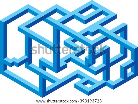 Abstract Construction Cantilever Confusion Business - stock vector