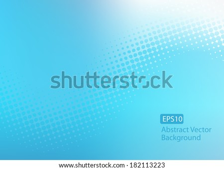Abstract cool soft blue EPS10 dot swirl background with plenty of copy space.  - stock vector