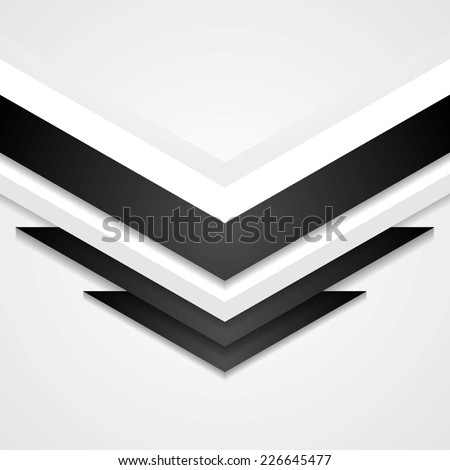 Abstract corporate background with arrows elements. Vector design - stock vector