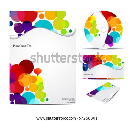 abstract corporate identity  vector illustration - stock vector