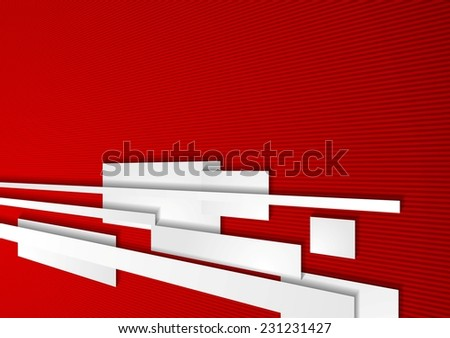 Abstract corporate red motion tech background. Vector design - stock vector