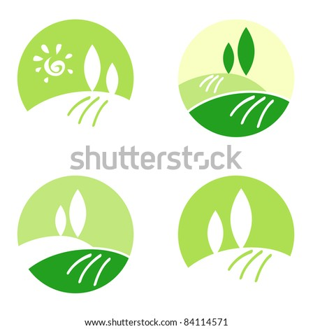 Abstract Country / Rolling Hills design icons & elements concept Vector design collection icons: Landscape, Nature and Hills.  - stock vector