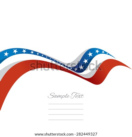 Abstract cover US ribbon white background vector - stock vector