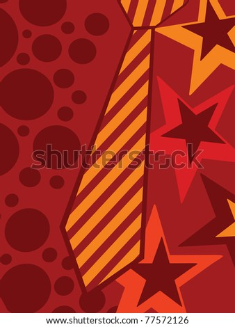 abstract creative artwork background for father's day celebration - stock vector