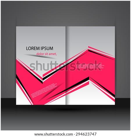 Abstract creative brochure / flyer design, eps10 vector. - stock vector