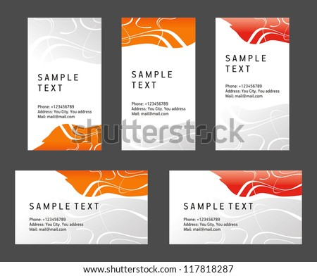 abstract creative business card line wave color template vector - stock vector
