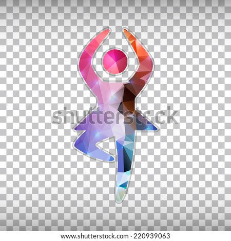 Abstract Creative concept vector icon of dance girl for Web and Mobile Applications isolated on background. Vector illustration template design, Business infographic and social media, origami icons. - stock vector