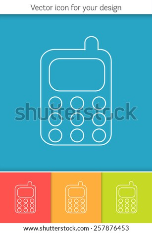 Abstract Creative concept vector icon of mobile phone for Web and Mobile Applications isolated on background. Vector illustration template design, Business infographic and social media, origami icons.  - stock vector