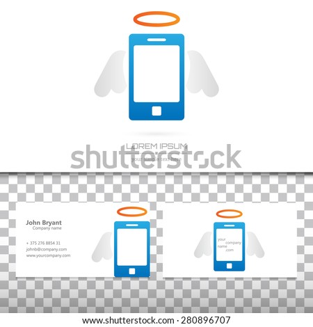 Abstract Creative concept vector icon of smart phone for Web and Mobile Applications isolated on background. Art illustration template design, Business infographic and social media, origami icons. - stock vector