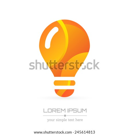 Abstract Creative concept vector image logo of bulb for web and mobile applications isolated on background, art illustration template design, business infographic and social media, icon, symbol. - stock vector