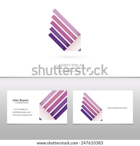 Abstract Creative concept vector image logo of pencil for web and mobile applications isolated on background, art illustration template design, business infographic and social media, icon, symbol. - stock vector