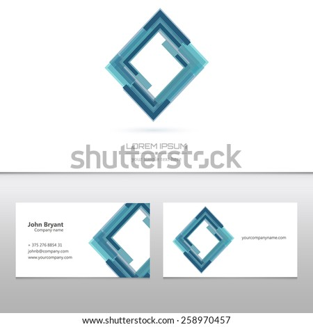 Abstract Creative concept vector image logo of real estate for web and mobile application  - stock vector