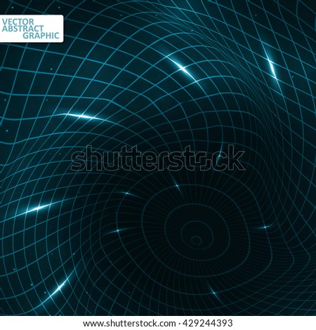 Abstract creative dynamic element, vector futuristic illustration eps10 - stock vector