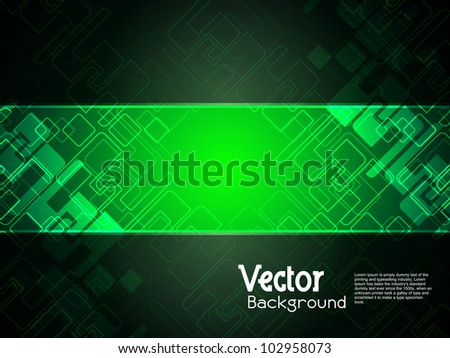 Abstract creative technology background with black banner. vector illustration - stock vector