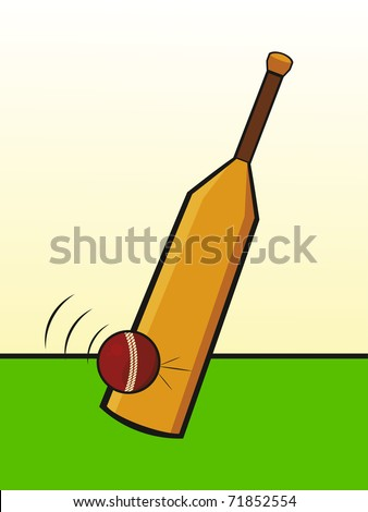 abstract cricket background, vector illustration - stock vector