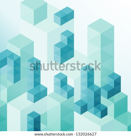 abstract cube background - stock vector