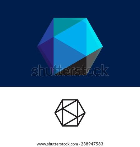Abstract cube logo - stock vector