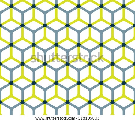 Abstract cube pattern in editable vector format - stock vector