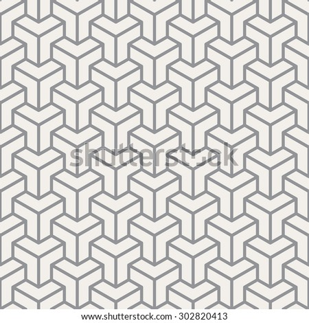 abstract cube seamless pattern - stock vector