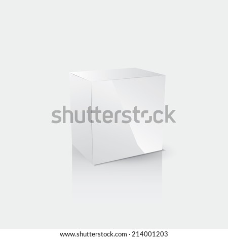 Abstract cube. Vector illustration for your design. - stock vector