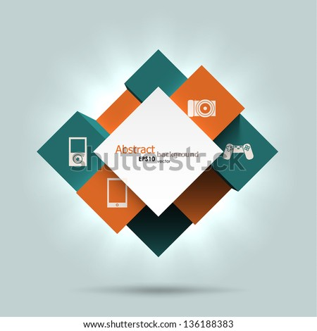 Abstract cubes background. EPS10 vector. - stock vector