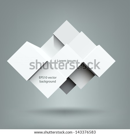 Abstract cubes background with copy spaces. EPS10 vector. - stock vector